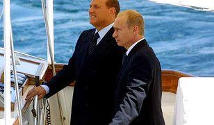 """Władimir Putin i Silvio Berlusconi na pokładzie jachtu """"Argo"""""""