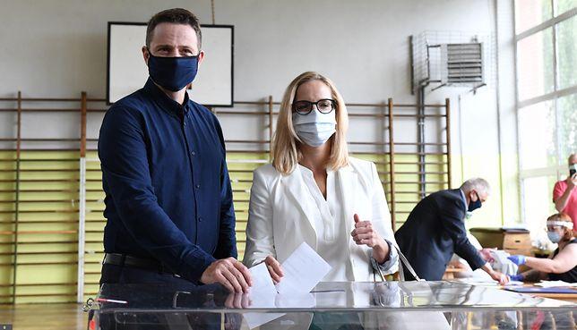 Małgorzata i Rafał Trzaskowscy głosowali w Rybniku