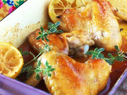 Skrzydełka kurczaka w cytrynowym sosie