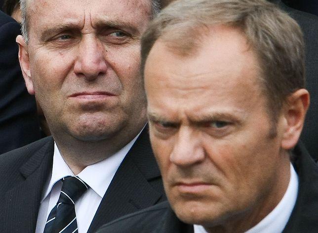 Grzegorz Schetyna i Donald Tusk - Obecny i były szef Platformy Obywatelskiej.