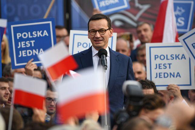 Mateusz Morawiecki podkreślił w Dębicy rolę programów PiS, m.in. 500 plus