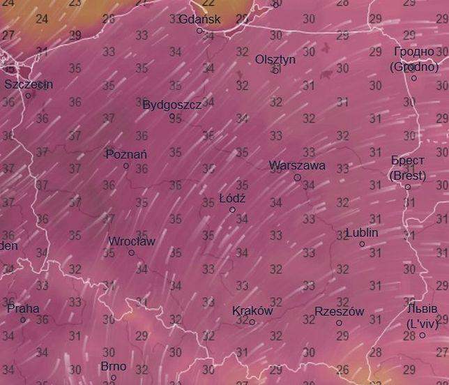 Tak wyglądała pogoda w Polsce o godzinie 17