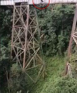 Kolumbia. 25-latka skoczyła na bungee bez zabezpieczenia