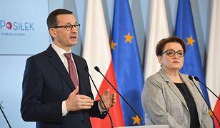 Premier Mateusz Morawiecki i szefowa MEN, Anna Zalewska.