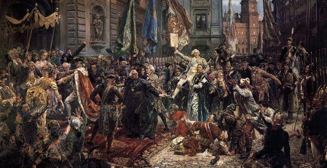 "Obraz ""Konstytucja 3 Maja 1791 roku"" Jana Matejki z 1891 r."