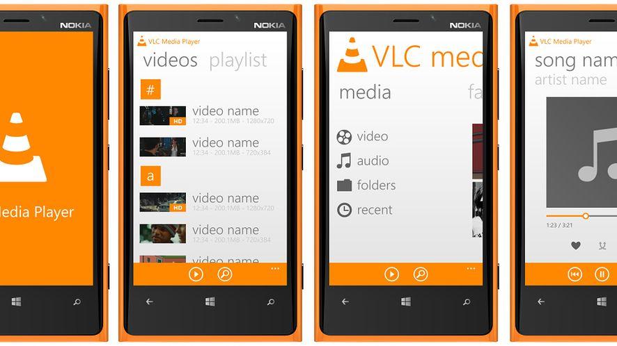 Koncept VLC na Windows Phone(autor: MetroUX)