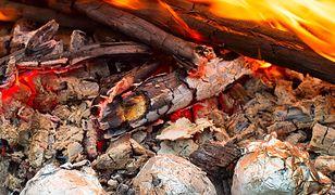 Ziemniaki najlepiej upieką się leżąc w ciepłym popiele nieopodal ognia