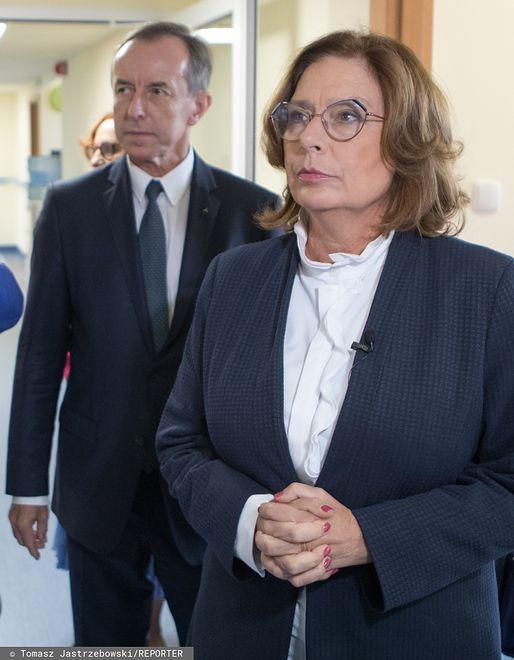 Prof. Tomasz Grodzki i Małgorzata Kidawa-Błońska