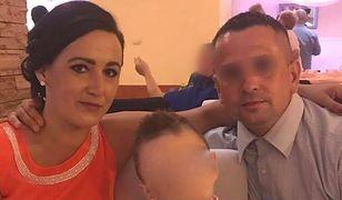 Grażyna K. z mężem Czesławem i synkiem Patrykiem