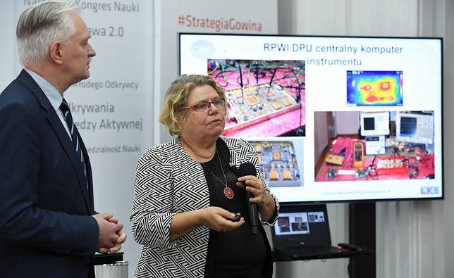 Dr Hanna Rothkaehl z Jarosławem Gowinem
