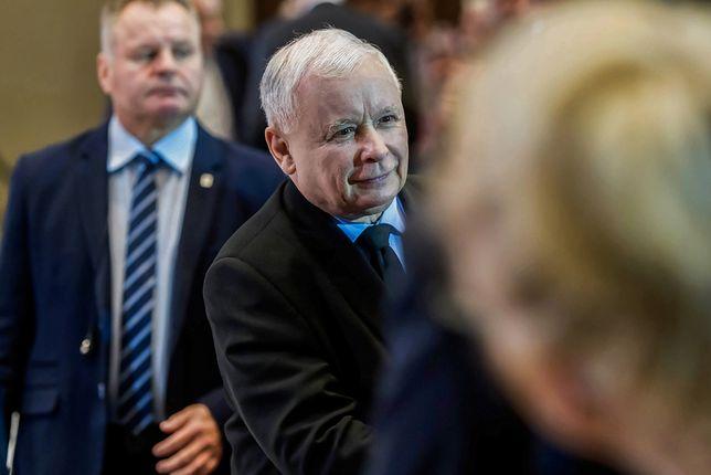 Warszawa. Jarosław Kaczyński (prezes Prawa i Sprawiedliwości)