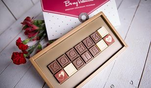 Zamiast kartonika - czekoladowe wyznanie