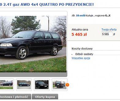 Samochód Bronisława Komorowskiego na licytacji