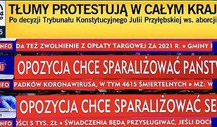 "TVP Info wytyka TVN24, że stosuje ""paski grozy"""