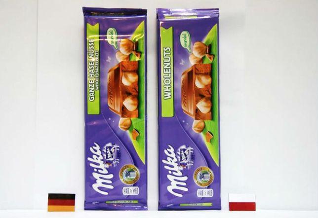 """UOKiK stwierdził, że Milka """"dla Polaków"""" ma mniej orzechów niż w Niemczech."""