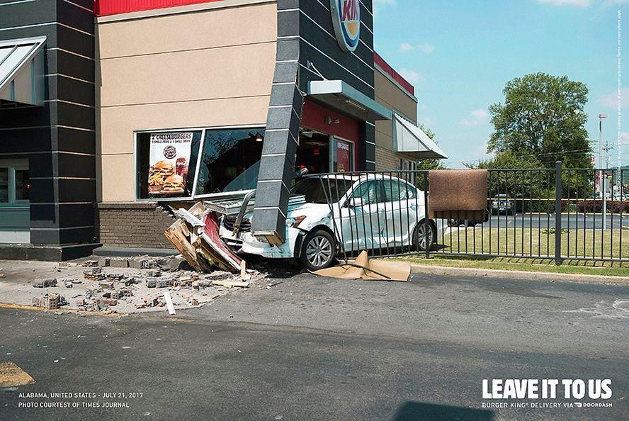 Burger King promuje jedzenie na dowóz. Kontrowersyjna kampania