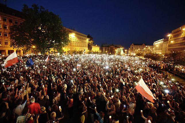 Łańcuch światła w Poznaniu.