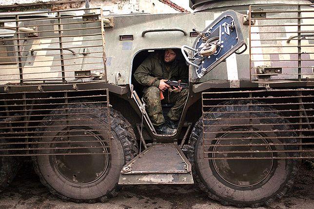 Ukraińscy żołnierze, którzy bronią Mariupola przed atakami separatystów