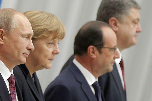 Uczestnicy rozmów w Mińsku