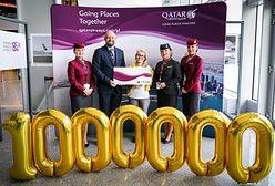 Qatar Airways wita milionowego pasażera na lotnisku w Warszawie