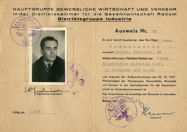 Fałszywe dokumenty, jakimi Kazimierz Leski posługiwał się podczas wojny