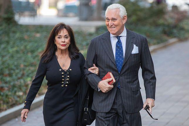 Były doradca Donalda Trumpa, Roger Stone z żoną