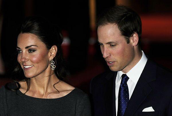 Książę William z żoną Kate