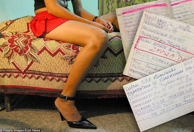 Strony z notatników prowadzonych przez warszawskie prostytutki