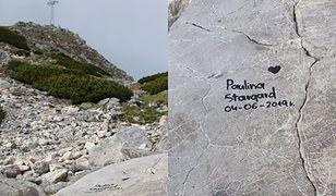 """Na kamieniach wandale zostawili swoje """"wizytówki"""""""