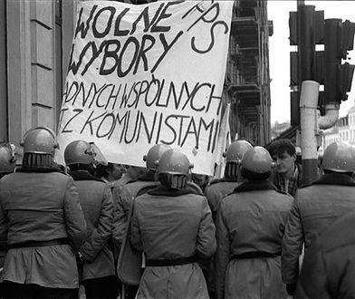 Jedna z ostatnich manifestacji przed wyborami 4 czerwca 1989 roku