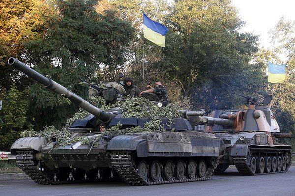 Ukraińskie wojsko w okolicach Ługańska