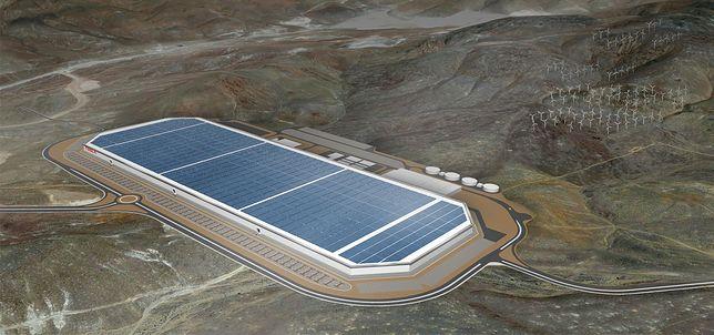 Gigafactory w Kalifornii. To tutaj powstają baterie dla samochodów marki Tesla.