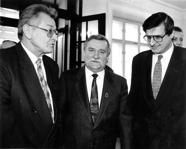 Lech Wałęsa, obok Krzysztof Król