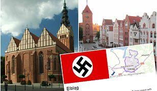 Nazistowska flaga jako symbol Elbląga
