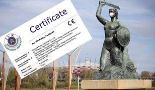 W Polsce zaroiło się od maseczek z niewłaściwymi certyfikatami. Na zdjęciu: certyfikat dotyczący jedynie zausznika maseczki