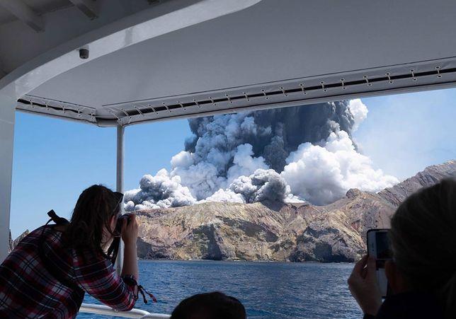 Nowa Zelandia. Wybuch wulkanu na wyspie White