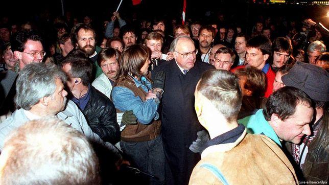 Helmut Kohl w Berlinie w 1989 r.
