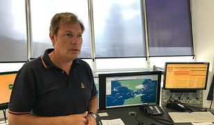 Jose Maraver Romero w punkcie dowodzenia akcjami ratowniczymi w Cieśninie Gibraltarskiej