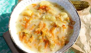 Klasyczna zupa ogórkowa