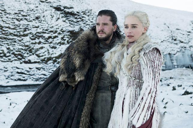 """Kit Harrington i Emilia Clarke w ósmym sezonie """"Gry o tron"""""""