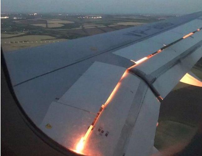Zapalił się prawy silnik samolotu