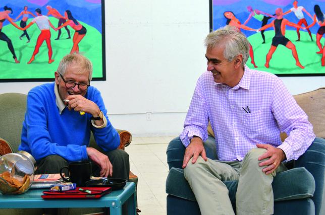 David Hockney and Martin Gayford, Los Angeles August 2014