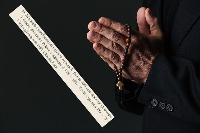 """Na stronie internetowej parafii w Nienadówce pojawiły się """"podziękowania"""" za wyniki wyborów parlamentarnych 2019"""
