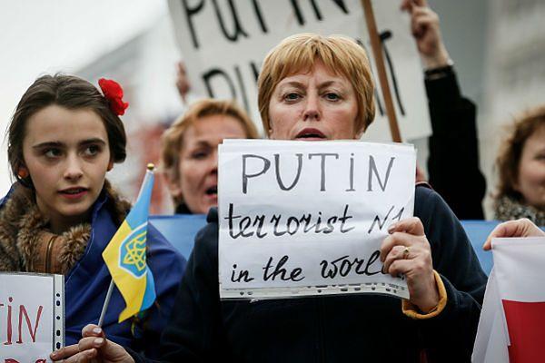 Protest przeciwko Rosji i Władimirowi Putinowi