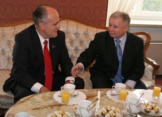 Jarosław Kaczyński i Rudy Giuliani