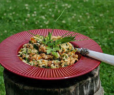 Ryż z duszonym indykiem w warzywach o nucie słodko ostrej