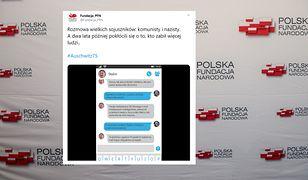 Kontrowersyjny spot Polskiej Fundacji Narodowej. Hitler smsuje ze Stalinem