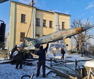 Dąbrowa Górnicza. Instalowali wyrzutnię rakiet, coś zaczęło im wyciekać