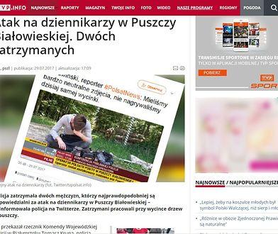 Jedyna informacja o pobiciu dziennikarza Polsatu, jaką można znaleźć na stronie TVP.