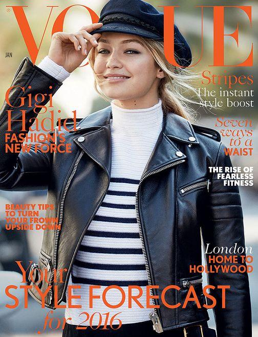 Gigi Hadid na okładkach Vogue